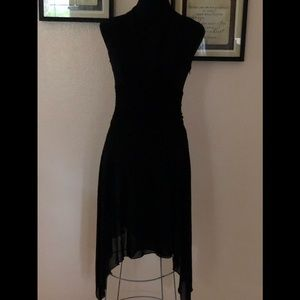 Halter Asymmetrical Laundry black dress